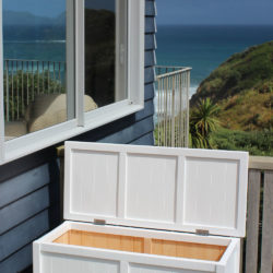BoxSeat Elegant Wooden Outdoor Storage