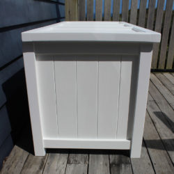 BoxSeat Wood Storage Seat Arctic White