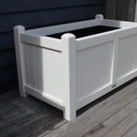 Coast Large Wooden Trough Planter Side View PlanTub