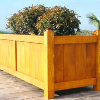 Coast Large Wooden Planter Trough in Natural Stain