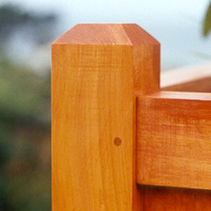 Coast Large and Medium Square Planter Post and Frame
