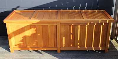 Extra Large BoxSeat Indoor Outdoor Wood Storage Box