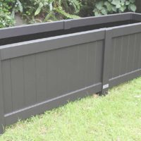 Large rectangular planter box in black