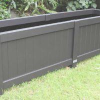 Large rectangular planter box in black